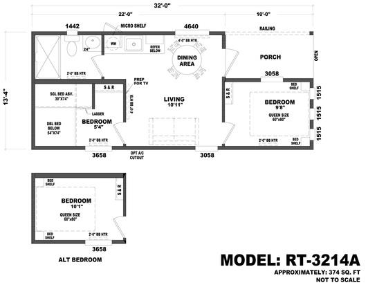 Floor plans for Tiny house santa barbara